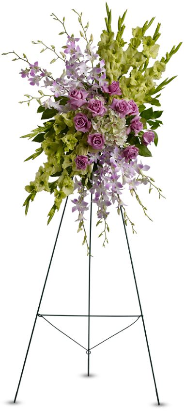 easel floral spray delivery to restland funeral home