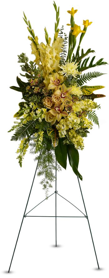 funeral floral easel delivery to Carrillo Funeral Homes - Dallas